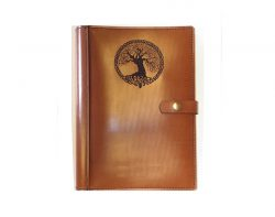 A4 Leather Diary Cover Celtic Tree