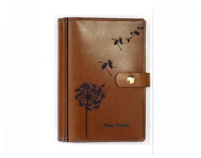 A4 leather diary cover WISHES