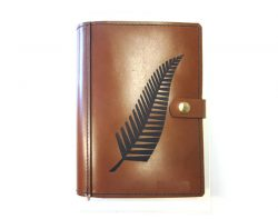 A4 Leather Diary Cover New Zealand Fern