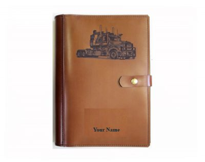 A4 leather diary cover kenworth truck