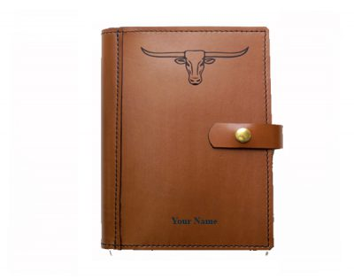 A4 leather diary cover longhorn