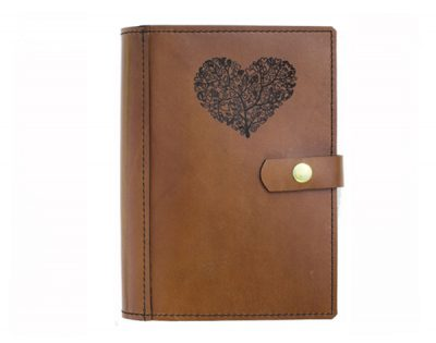 A4 Leather Diary Cover Love Heart