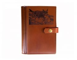 A4 Leather Diary Cover Working Dog