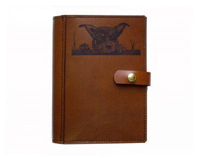 A4 leather diary cover Kelpie