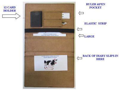 leather insert logbook