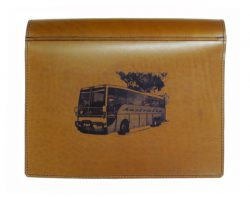 Bus logbook cover leather
