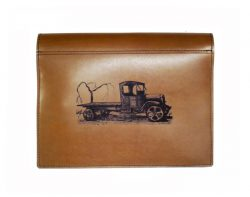 truck leather logbook cover