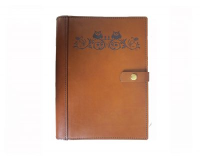 A4 Leather Diary Cover Owls