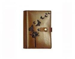 A5 Leather Diary Cover Butterflies