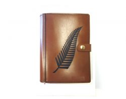 A5 Leather Diary Cover New Zealand Fern