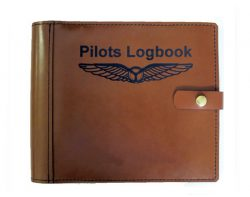 PILOT LOG BOOK COVER with Wings
