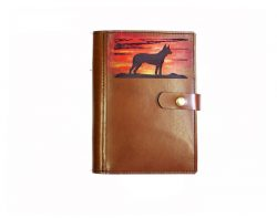 Personalised Leather Diary Cover A5