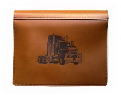Kenworth truck logbook cover leather