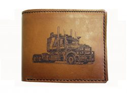 a LEATHER WALLET MACK