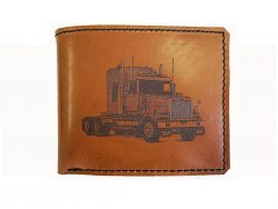 a LEATHER WALLET WESTERN STAR